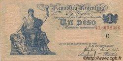 1 Peso ARGENTINE  1908 P.243a TB+