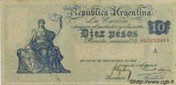 10 Pesos ARGENTINE  1908 P.245a TTB
