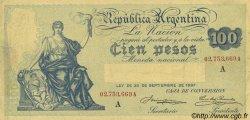 100 Pesos ARGENTINE  1908 P.247a TTB