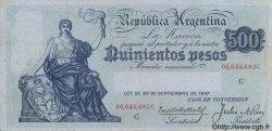 500 Pesos ARGENTINE  1935 P.248c TTB+
