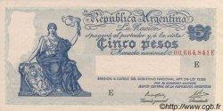 5 Pesos ARGENTINE  1935 P.252c SUP
