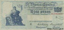 10 Pesos ARGENTINE  1936 P.253a TTB