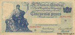 50 Pesos ARGENTINE  1936 P.254 TTB