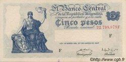 5 Pesos ARGENTINE  1949 P.258 SUP