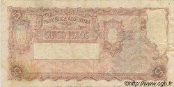5 Pesos ARGENTINE  1951 P.264c TB