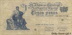 5 Pesos ARGENTINE  1951 P.264d TB