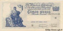 5 Pesos ARGENTINE  1951 P.264d SPL