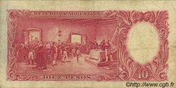 10 Pesos ARGENTINE  1942 P.265b TB+