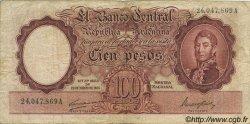 100 Pesos ARGENTINE  1943 P.267b TB