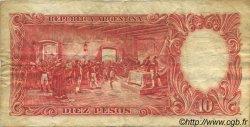 10 Pesos ARGENTINE  1954 P.270c TB
