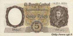 5 Pesos ARGENTINE  1960 P.275a SPL