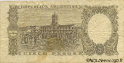 5 Pesos ARGENTINE  1960 P.275c TB