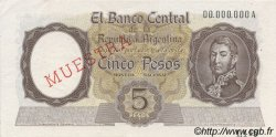5 Pesos ARGENTINE  1960 P.275s SPL