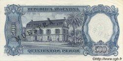 500 Pesos ARGENTINE  1964 P.278s SPL