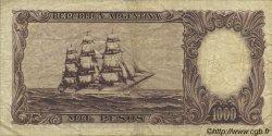 1000 Pesos ARGENTINE  1966 P.279b TB+