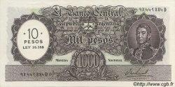 10 Pesos sur 1000 Pesos ARGENTINE  1969 P.284 SPL