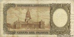 50 Pesos sur 5000 Pesos ARGENTINE  1969 P.285 TB