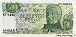 500 Pesos ARGENTINE  1972 P.292s NEUF