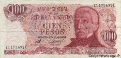 100 Pesos ARGENTINE  1974 P.296 TTB