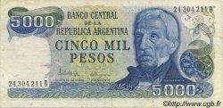 5000 Pesos ARGENTINE  1977 P.305b SUP