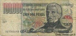 100000 Pesos ARGENTINE  1976 P.308a B+