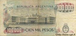 100000 Pesos ARGENTINE  1976 P.308a TB+