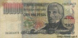 100000 Pesos ARGENTINE  1976 P.308b TB+