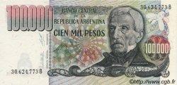 100000 Pesos ARGENTINE  1976 P.308b NEUF