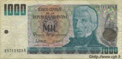 1000 Pesos Argentinos ARGENTINE  1983 P.317a TB