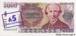 5 Australes ARGENTINE  1985 P.321 NEUF