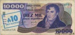 10 Australes ARGENTINE  1985 P.322a TB+