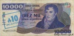 10 Australes ARGENTINE  1985 P.322c TB+