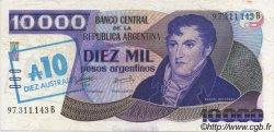 10 Australes ARGENTINE  1985 P.322c SUP