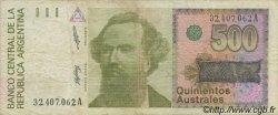 500 Australes ARGENTINE  1988 P.328a B+