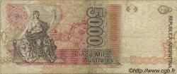 5000 Australes ARGENTINE  1989 P.330a TB