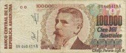 100000 Australes ARGENTINE  1990 P.336 TB