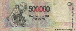 500000 Australes ARGENTINE  1991 P.338 TB+