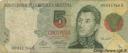 5 Pesos ARGENTINE  1992 P.341a B
