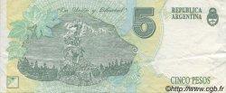 5 Pesos ARGENTINE  1992 P.341b SUP
