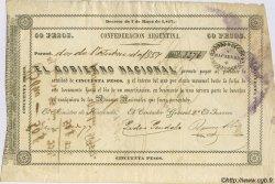 50 Pesos ARGENTINE  1857 PS.0183 TTB