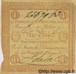 1 Peso ARGENTINE  1844 PS.0384a TTB+