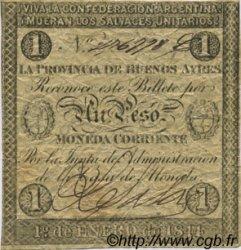 1 Peso ARGENTINE  1844 PS.0384b pr.TTB