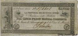 5 Pesos ARGENTINE  1844 PS.0385b pr.TTB