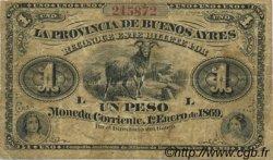 1 Peso ARGENTINE  1869 PS.0481a TB+