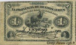 1 Peso ARGENTINE  1869 PS.0481b TB