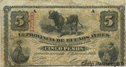 5 Pesos ARGENTINE  1869 PS.0482 TB