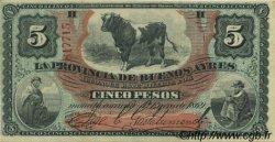 5 Pesos ARGENTINE  1869 PS.0483b SUP