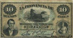 10 Pesos ARGENTINE  1869 PS.0485b TB+