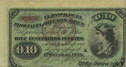 10 Centesimos Fuertes ARGENTINE  1876 PS.0513a TTB+