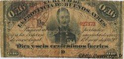 16 Centesimos Fuertes ARGENTINE  1876 PS.0514a B+